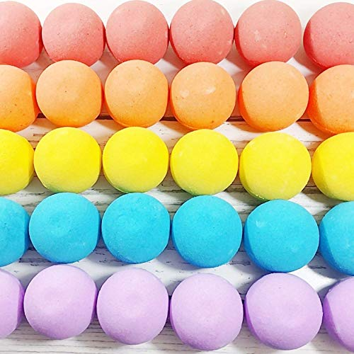 Colorful Rainbow Bath Bombs. 5 Piece Fizzy Gift Set. Handmade in USA