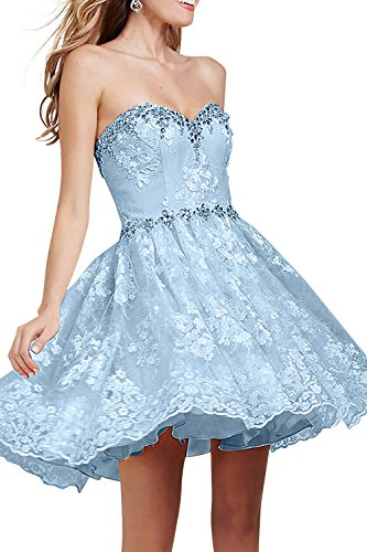 A Himmel Spitze La Kurzes Damenmode Brau Festlichkleider Blau Jugendweihe Kleider Promkleider Linie mia Abendkleider Cocktailkleider Oq8qpUx