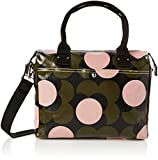 Orla Kiely Women's Shiny Laminated Shadow Flower Print Zip Messenger, Forest