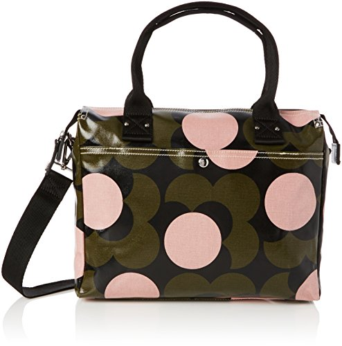 Orla Kiely Women's Shiny Laminated Shadow Flower Print Zip Messenger, Forest by Orla Kiely