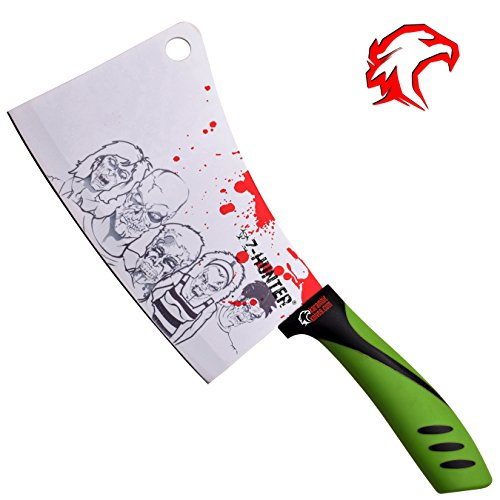 White Zombie Cleaver - Unique Chef Gifts - Great Cleaver/Machete to Add to Your Collection! (White) (Zombie Chef compare prices)