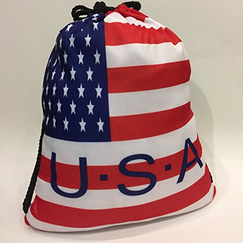 The Most Patriotic American Flag Drawstring Backpack. Ideal for the Gym, Beach, School, Shopping, Hiking, Sports events. Great gift! by Volcano