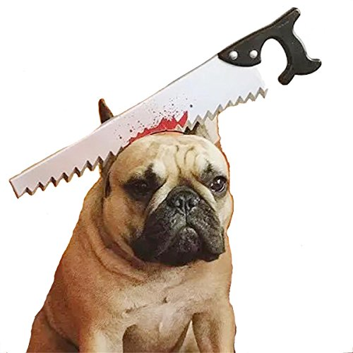 PetBoBo pet Dog Cat Head Funny Joke Trick Toy for Halloween party, Practical Jokes Gag Toys, Fancy Headband (The Halloween Hack)