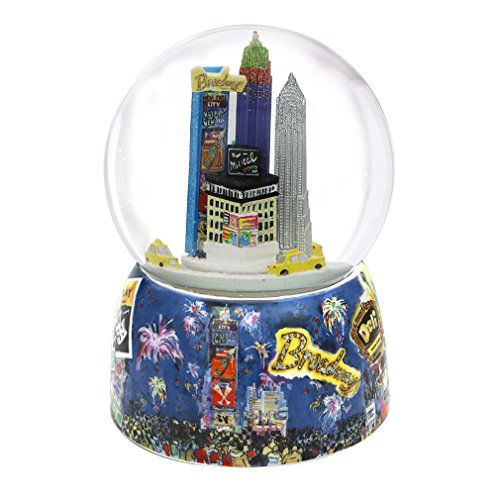 Musical New Years Eve Times Square Snow Globe from New York City, 6.75 Inches Featuring Times Square, Broadway and Central - New Times York Square Broadway