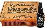 Urban Prince Beard Oil, 2Klawz Comb & Travel Size Solid Cologne Balm Stick Kit Sets