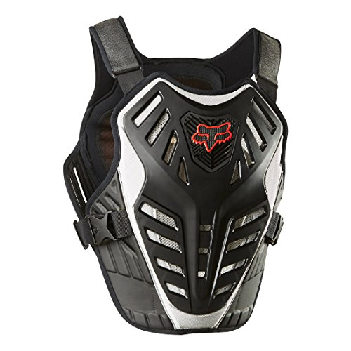 Fox Race Titan Racing (FOX RACING 2018 TITAN RACE SUBFRAME CE Black/Silver SMALL/MEDIUM MX OFFROAD ADULT MEN'S PROTECTIVE GEAR)