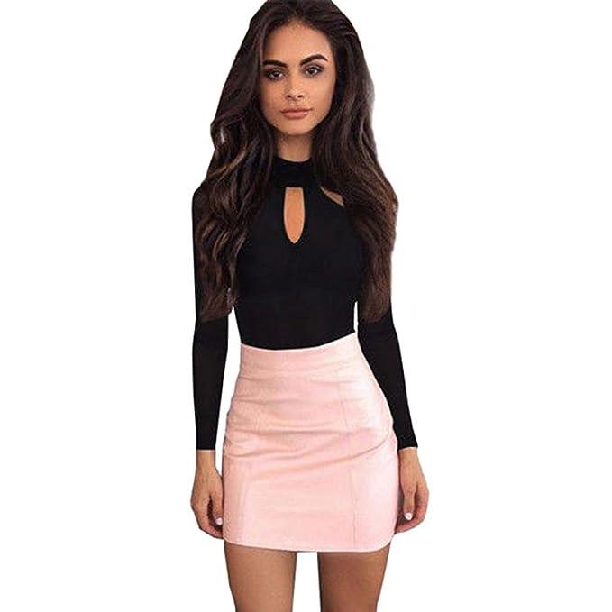 865eab9a442d ABCone-Donna Pullover Felpa O-Collo Tuta Clubwear Body T-Shirt Maniche  Lunghe Elegante Autunno Camicette Camicie Casual Tops  Amazon.it   Abbigliamento