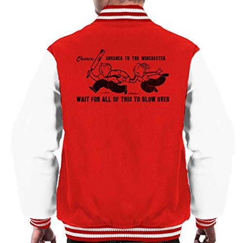 Chance The Red Of Jacket white Varsity Dead Shaun Men's Monopoly Last 4Tn5Iqqxa