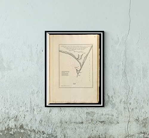 1768 Map North Carolina|Carteret|Cape Lookout A Survey of The Coast About Cape Lookout in North|Vintage Fine Art Reproduction|Ready to Frame (North Cape Furniture)