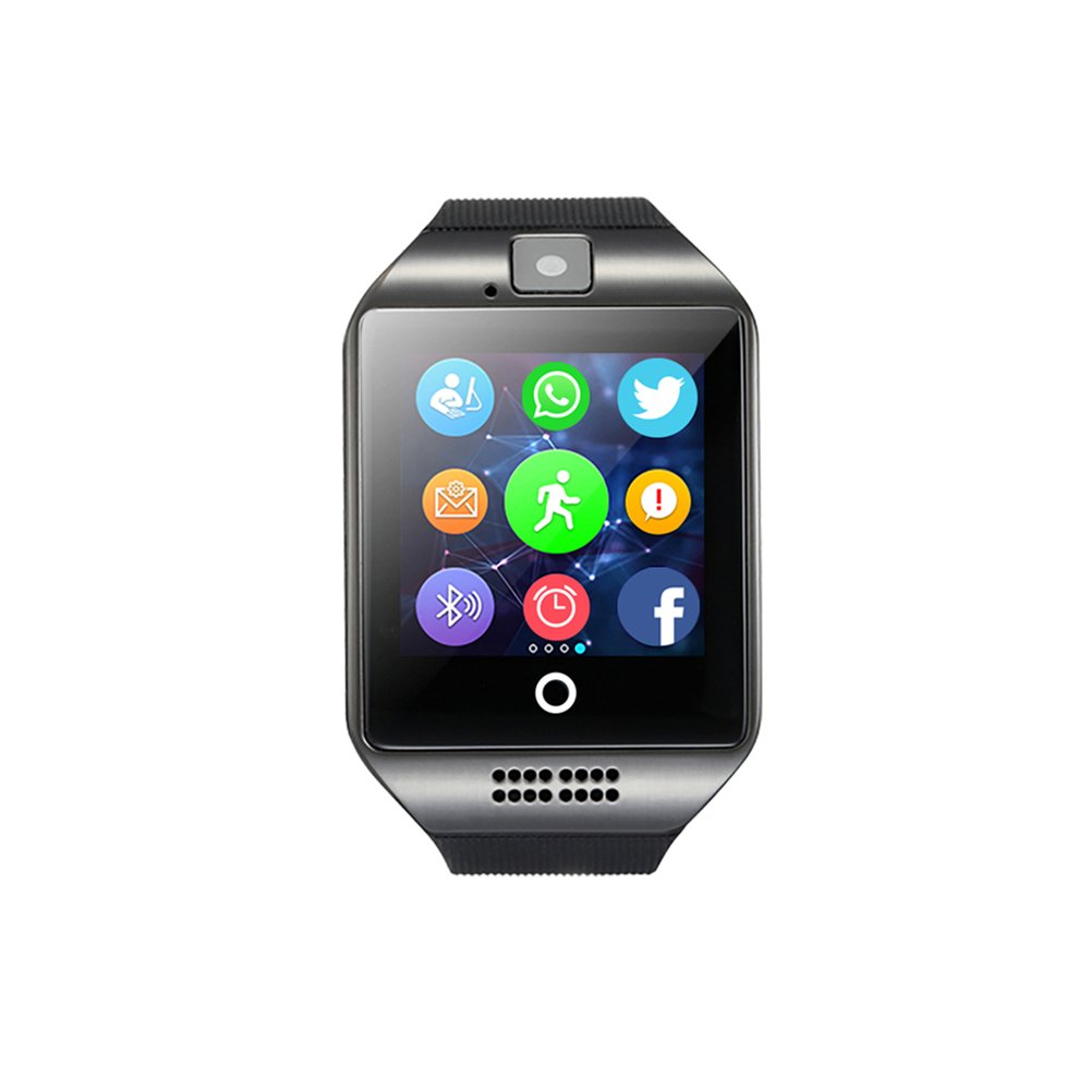 SmartWatch, Bluetooth Fitness Tracker Anti-Lost Smart Watch, Feel Comfortable, Screen Sensitive, The System Runs Smoothly, for Android Samsung,HTC,Sony,LG,Huawei,Google Nexus (Black). (Black)
