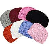 CoverYourHair Crochet Beanie Hats - Kids Kufi Hat - 6 Pack Children Beanies by