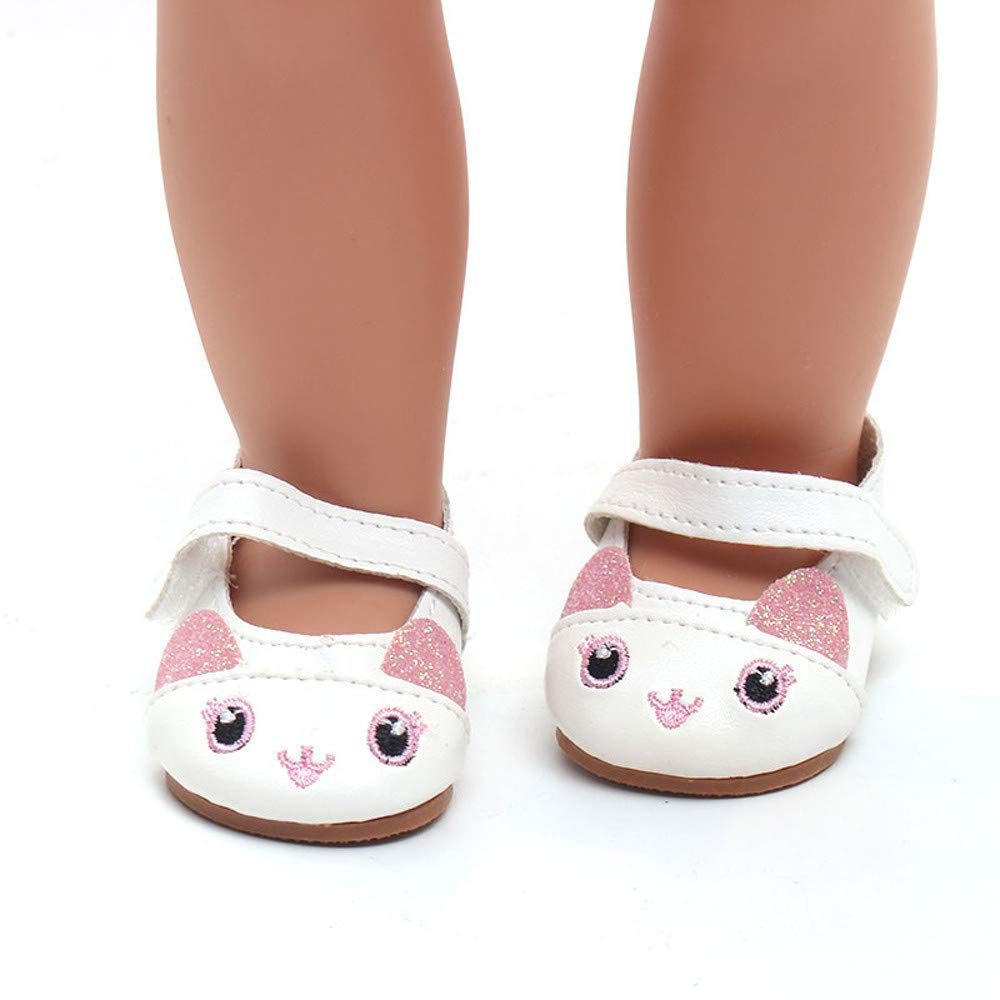 Blue YUYOUG Doll Shoes Lovely Cartoon Sandals Shoes Fits 18 Inch Our Generation American Girl Doll Accessory Girls Toy New