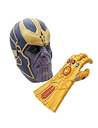 Avengers Infinity War Thanos Mask Gauntlet Costume Party Props Latex Mask
