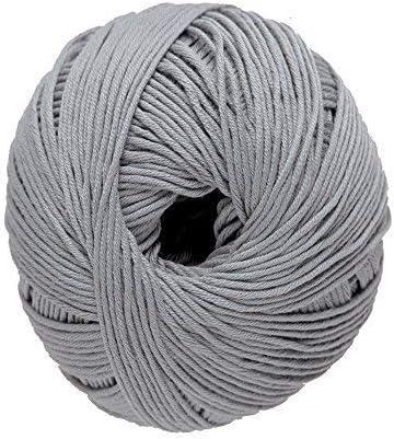 DMC Ovillo de Lana Media Natura, 100 % algodón, Color 03, 100% algodón, Gris Argent N09, 9.0 x 9.0 x 7.0 cm: Amazon.es: Hogar