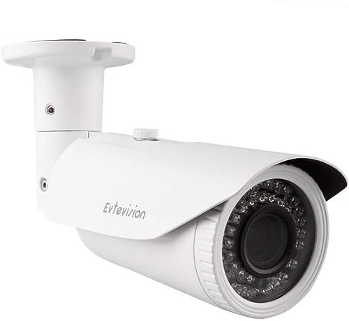 Evtevision 1080P 3-in-1 TVI CVI AHD CCTV Security Camera 42 IR LEDs Outdoor Night Vision 130ft 2.8-12mm Bullet Camera Aluminum Metal Housing, Compatible with HD-TVI, AHD, CVI DVR