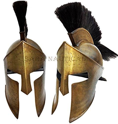 Sara Nautical 300 Movie King Leonidas Spartan Helmet Greek Warrior (Movie 300 Spartans Costumes)