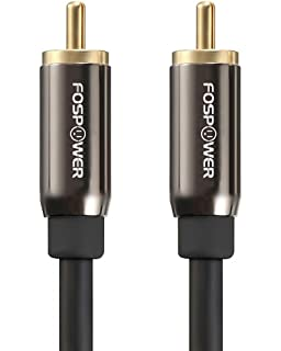 FosPower Subwoofer Cable (15 Feet), RCA to RCA Audio Stereo Cable, Male
