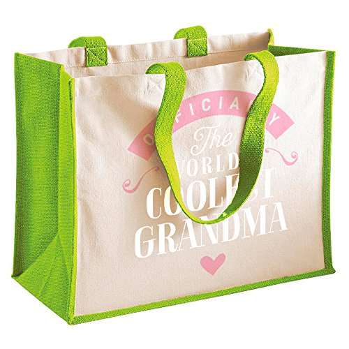 Grandma Shoppin Birthday Tote Personalised Gift Gifts Funny Bag Gifts Green Keepsake Granddaughter Present Great From SCSAwBqRx
