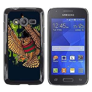Be Good Phone Accessory // Dura Cáscara cubierta Protectora Caso Carcasa Funda de Protección para Samsung Galaxy Ace 4 G313 SM-G313F // Wild Owl Bird Forest Moon Crescent Fairytale