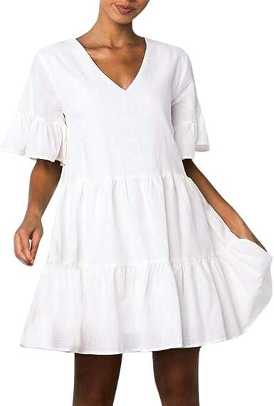 Blusa Larga para Mujer, de Verano, para Mujer, Vestido ...