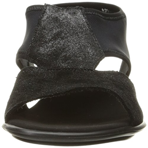 Afry Elite Flat Stretch Black Meucci Sesto Mesh Women's Sandal Black BqZwWwFY4f