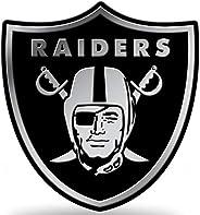 Rico Industries, Inc. Las Vegas Raiders Raised Silver Chrome Color Auto Emblem Decal Football