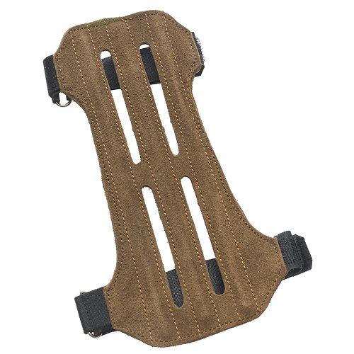 OMP Mountain Man 2-Strap Ventilated Leather Suede Arm Guard 57365