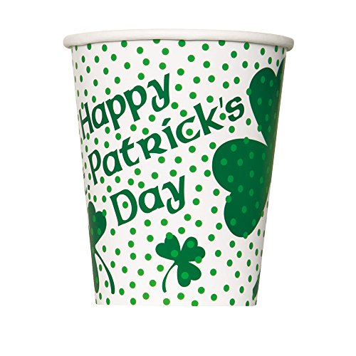 - 9oz Lucky Shamrock St. Patrick's Day Party Cups, 8ct