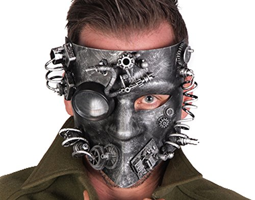 Mechanical Steampunk Gear Mask Halloween Costume Party Goggles (SILVER) (Goth Halloween Costumes For Kids)