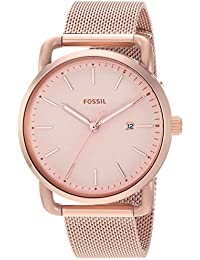 Women's 'Commuter' Quartz Stainless Steel Casual Watch, Color:Rose Gold-Toned (Model: ES4333)