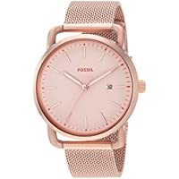 Fossil Women's 'Commuter' Quartz Stainless Steel Casual Watch, Color:Rose Gold-Toned (Model: ES4333)