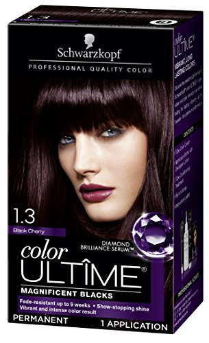 (Schwarzkopf Color Ultime Hair Color Cream, 1.3 Black Cherry (Packaging May Vary))