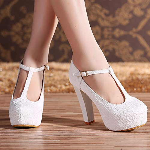 Buy white lace heels for women