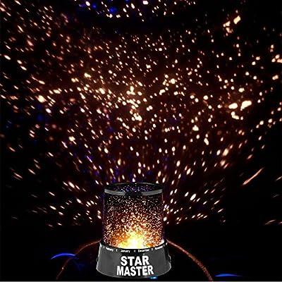 Hemore Proyector Lámpara Estrellas Luz de Noche,Lámpara Romántica ...