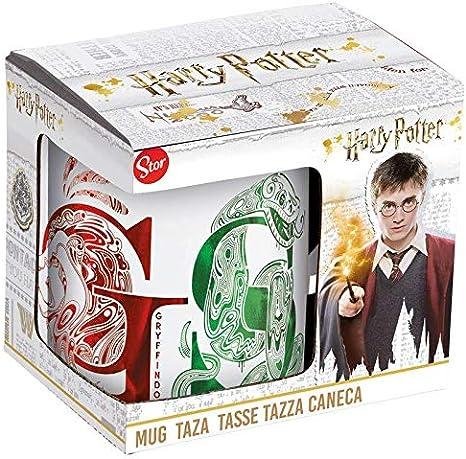 HARRY POTTER Taza ceramica en caja de regalo Houses Tazas de desayuno, Negro: Amazon.es: Hogar