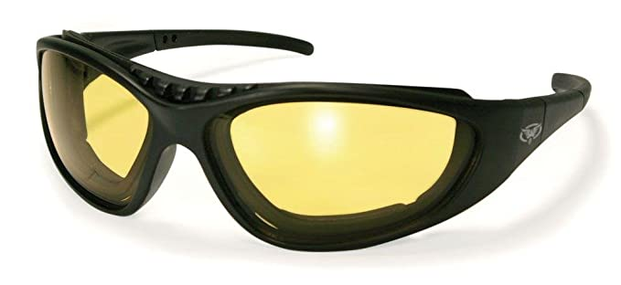 e76716eff4b Global Vision Freedom 24YT Yellow-Photochromic Padded Sunglasses Black  Yellow-Smoke ML  Amazon.co.uk  Clothing