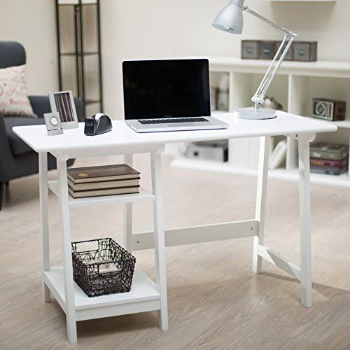 Finley Home Manhattan Open Computer Desk with Adjustable Shelf