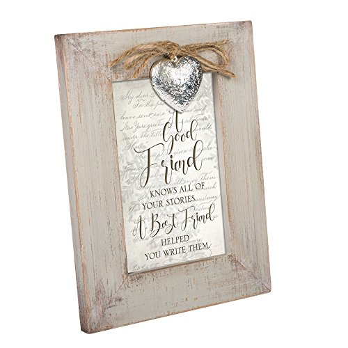 Cottage Garden A Good Friend Knows Natural Taupe Locket Easel Back Picture Frame