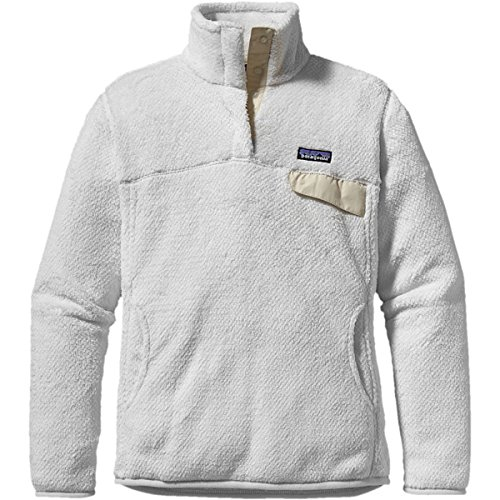Linen Pullover - Patagonia Women's Re-Tool Snap-T Fleece Pullover (Raw Linen White X-Dye, Medium)