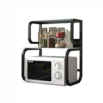 Estante de cocina para microondas y horno de 2 capas de vidrio ...