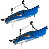 Rage Powersports Apex – Kayak and Canoe Storage Hoist – BLC-1-2 – 100-Pound Weight Capacity – Double Pulley System – Bicycle-Hoisting Attachments – Includes Two Hoists