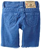 True Religion Boys 2-7 Geno Slim Fit Cut Off Light Weight Overdye Cord Short, Royal Blue, 3 image