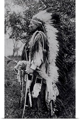 American School Poster Print entitled White Wolf, a Comanche Chief, (Comanche Indian Costumes)