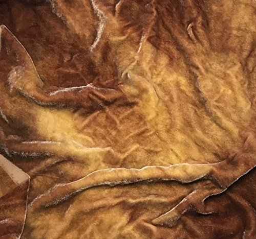 Golden Brown - Hand Dyed Silk Velvet Fabric -By the (Golden Brown Velvet Fabric)