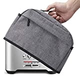 VOSDANS 2 Slice Toaster Cover with Zipper & Open