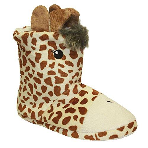 SlumberzzZ , Mädchen Hausschuhe Brown Giraffe