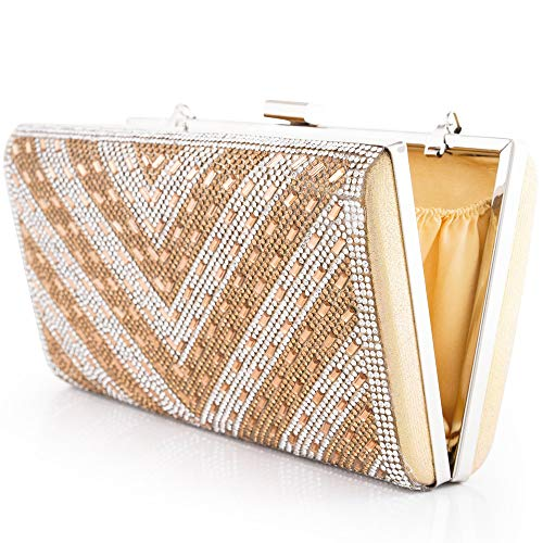 Woman Clutch Bag Metal Frame Evening HandBag Sparkling Rhinestones Bridal Purses