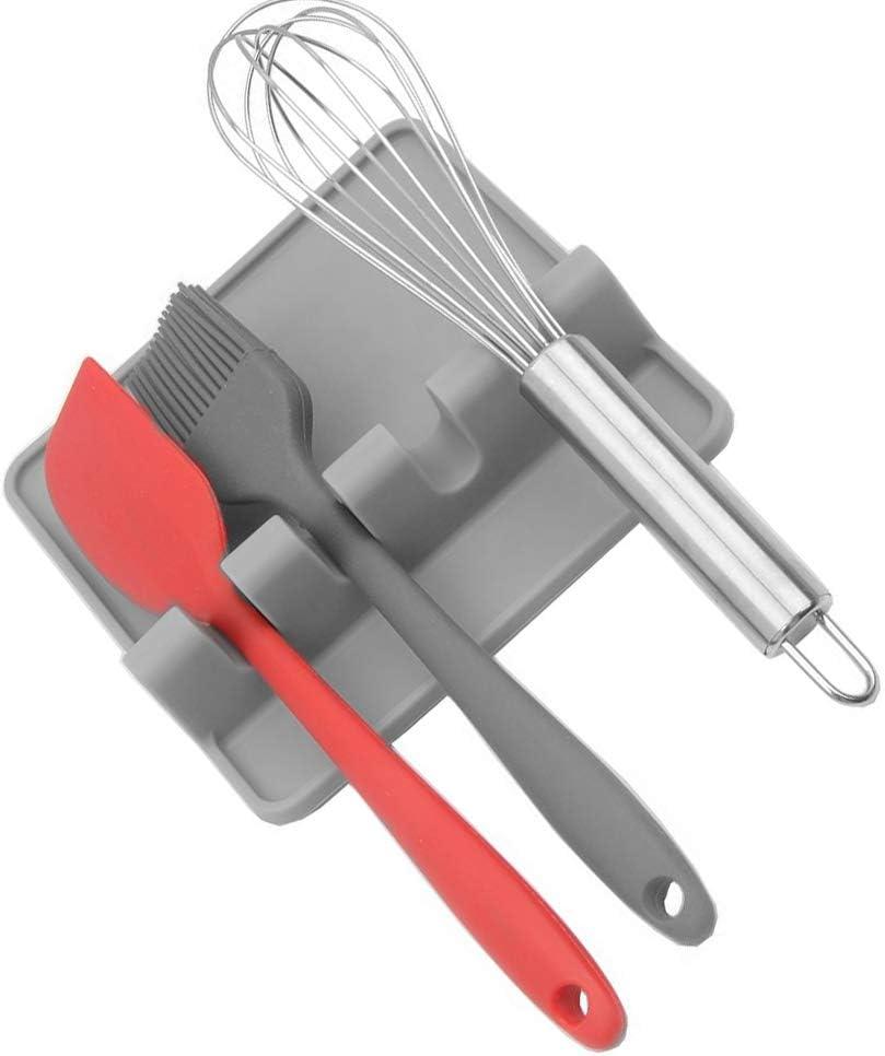 repose-ustensiles de cuisine gadget de cuisine Support louche cuill/ère Gris Gadgets de cuisine