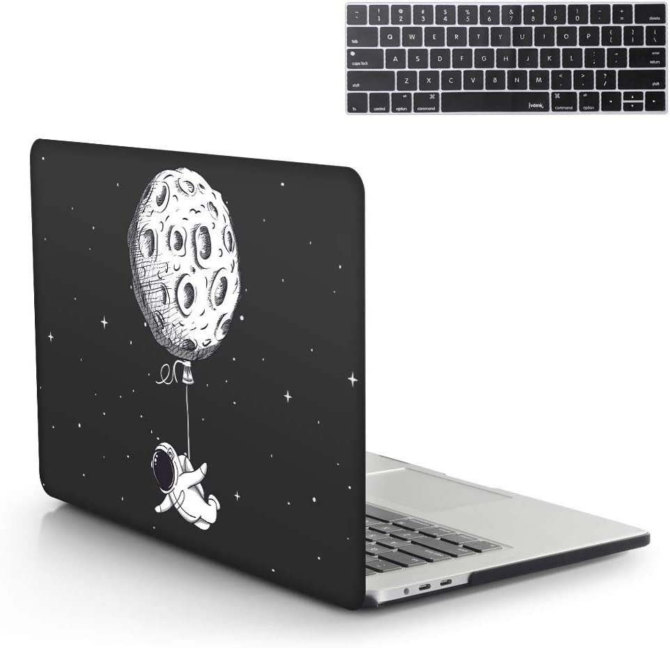 13 Inch MacBook Pro Case 2019 2018 2017 2016 Release A1989 A1706 A1708 A2159 Hard Case Shell Cover Art & Keyboard Cover with/Without Touch Bar for Apple MacBook Pro Case (Suspension Moon)