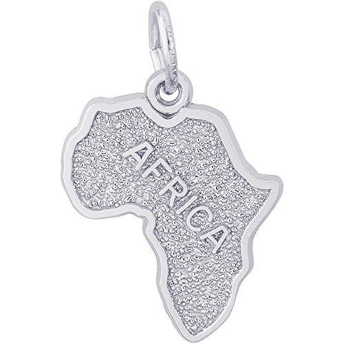 Rembrandt Sterling Silver Africa Map Charm (14.5 x 18.5 mm) by Rembrandt Charms
